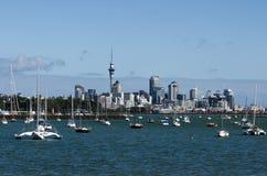 Skyline de Auckland Fotografia de Stock
