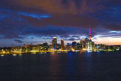 Skyline de Auckland Foto de Stock Royalty Free