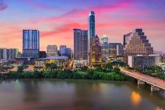 Skyline de Austin, Texas fotografia de stock