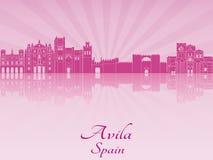 Skyline de Avila na orquídea brilhante roxa Imagem de Stock
