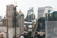 skyline de Banguecoque da arquitetura da cidade, Tailândia Banguecoque é metrópole e favorito dos turistas vivos entre na constru fotografia de stock