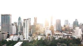 skyline de Banguecoque da arquitetura da cidade, Tailândia Banguecoque é metrópole e favorito dos turistas vivos entre na constru foto de stock royalty free