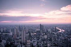 Skyline de Banguecoque da vista a?rea da constru??o de Mahanakorn em Banguecoque, Tail?ndia fotos de stock royalty free