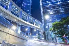 Skyline de Banguecoque na noite Imagens de Stock Royalty Free