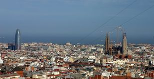 Skyline de Barcelona Imagem de Stock Royalty Free