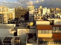 Skyline de Beirute, Líbano de uma 12a posição vantajosa da história imagem de stock