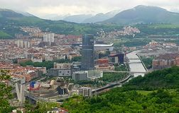 Skyline de Bilbao Fotografia de Stock Royalty Free