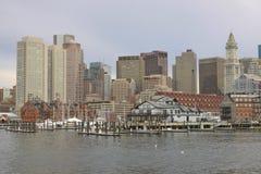 Skyline de Boston Imagens de Stock Royalty Free