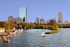 Skyline de Boston de Cambridge Imagens de Stock