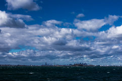Skyline de Boston de Quincy Imagem de Stock Royalty Free
