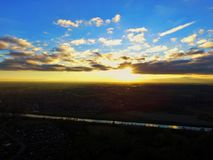 Skyline de Boston Lincolnshire Fotografia de Stock Royalty Free