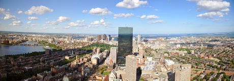 Skyline de Boston, Massachusetts, EUA Imagens de Stock Royalty Free