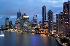 Skyline de Brisbane Imagem de Stock Royalty Free