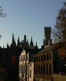 Skyline de Bruges Imagem de Stock