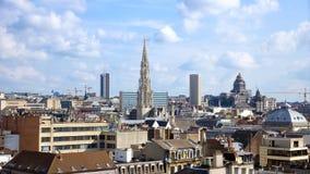 Skyline de Bruxelas fotos de stock royalty free