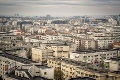 Skyline de Bucareste Foto de Stock Royalty Free
