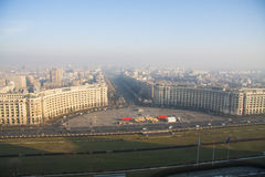 Skyline de Bucareste Imagens de Stock Royalty Free