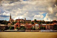 Skyline de Bupadest, Hungria Fotos de Stock Royalty Free