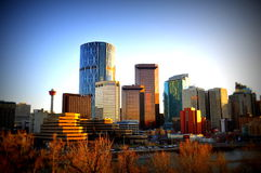 Skyline de Calgary Fotos de Stock Royalty Free