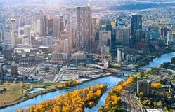 Skyline de Calgary Imagem de Stock