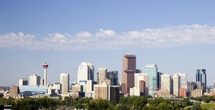 Skyline de Calgary Foto de Stock Royalty Free