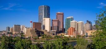 A skyline de Calgary Imagem de Stock