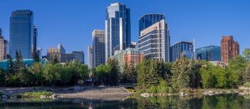 Skyline de Calgary Imagens de Stock
