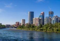 A skyline de Calgary Fotos de Stock