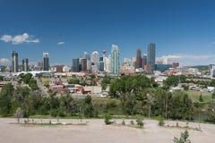 Skyline de Calgary - imagem conservada em estoque Imagens de Stock