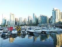 Skyline de Canadá Vancôver Fotos de Stock Royalty Free
