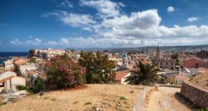 Skyline de Chania na Creta, Grécia Fotografia de Stock