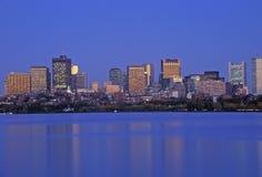 Skyline de Charles River, Boston, Massachusetts foto de stock royalty free