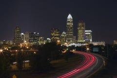 Skyline de Charlotte Foto de Stock