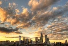 Skyline de Charlotte da parte alta da cidade Foto de Stock