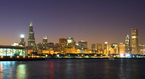 A skyline de Chicago Foto de Stock Royalty Free