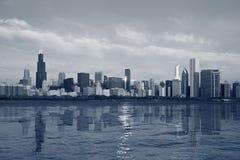 Skyline de Chicago. Imagens de Stock
