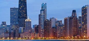 Skyline de Chicago. Imagens de Stock Royalty Free