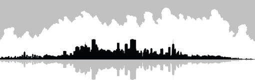 Skyline de Chicago ilustração do vetor