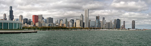 Skyline de Chicago Fotografia de Stock Royalty Free