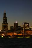 Skyline de Chicago Foto de Stock Royalty Free