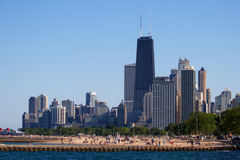 Skyline de Chicago Fotos de Stock Royalty Free
