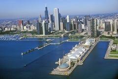 A skyline de Chicago, Chicago, Illinois imagem de stock royalty free