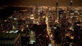 Skyline de Chicago de cima de filme