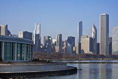 Skyline de Chicago do leste Foto de Stock Royalty Free
