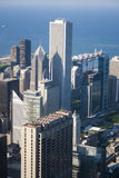 Skyline de Chicago e lago Michigan Fotografia de Stock Royalty Free