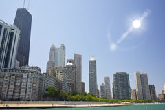 Skyline de Chicago, Illinois fotos de stock royalty free