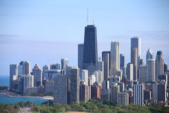 Skyline de Chicago no verão Foto de Stock