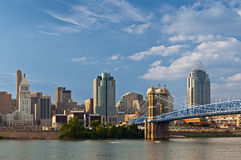 Skyline de Cincinnati. Imagem de Stock Royalty Free