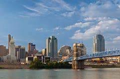 Skyline de Cincinnati. imagem de stock royalty free