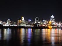 Skyline de Cincinnati fotos de stock royalty free